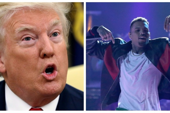 """Chris Brown accuses Trump of giving cops the right to """"F**K UP YOUNG BLACK MEN"""""""