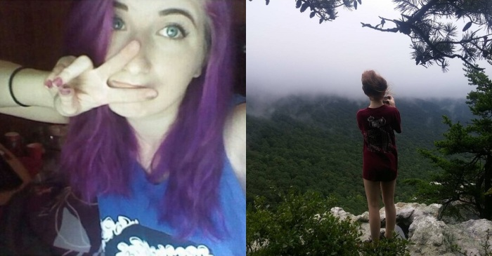 An ex-boyfriend told her they'd still be friends, took this photo by a cliff and then did the unthinkable
