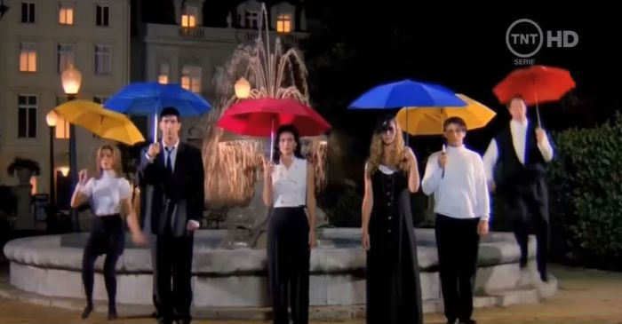 "The ""Friends"" intro with sound effects instead of music is downright spooky"