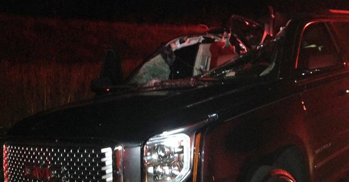 An Oklahoma mother of four has tragically died after a cattle truck's tire flew right at her windshield