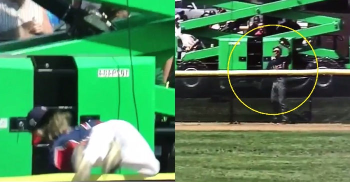 We can't stop watching this kid's insane home-run-robbing catch