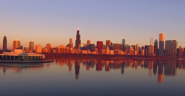 Fly through Chicago's top attractions with this mesmerizing footage