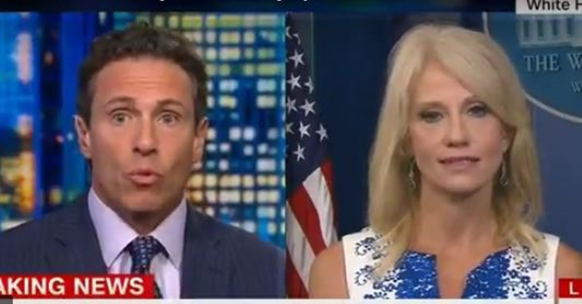 Kellyanne Conway and Chris Cuomo got into an intense debate over Russia investigation during live TV broadcast