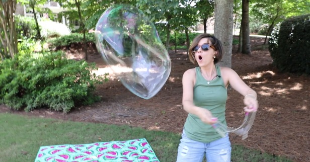 The simple childhood joy of blowing bubbles gets a huge upgrade with this hack