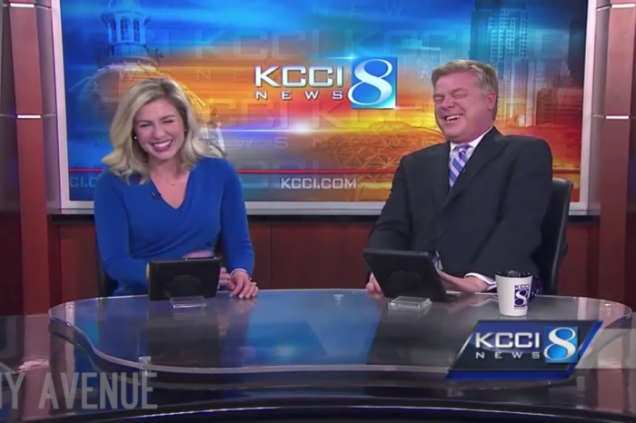 Composure became a thing of the past when a pair of news anchors tried to introduce a segment about a very rowdy canine