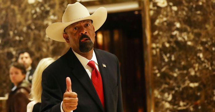 Milwaukee Sheriff David Clarke is out