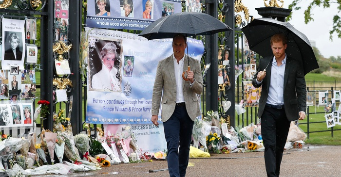 Mourners gather to remember Princess Diana as her sons honor her memory in a public event