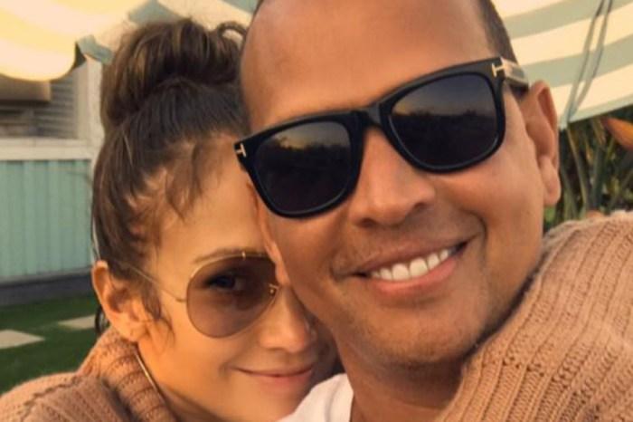 "Jennifer Lopez cuddles up to Alex Rodriguez before returning to the ""Shades of Blue"" set"