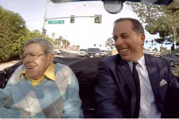 "Shortly before he passed, Jerry Lewis appeared on ""Comedians in Cars"" with Jerry Seinfeld"