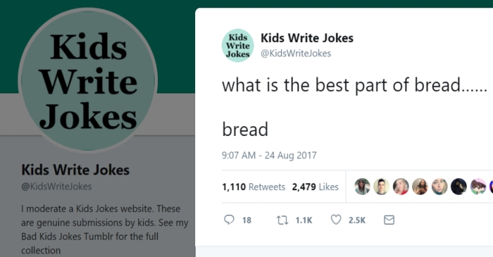 This Twitter account that tweets jokes written by children is our new favorite thing