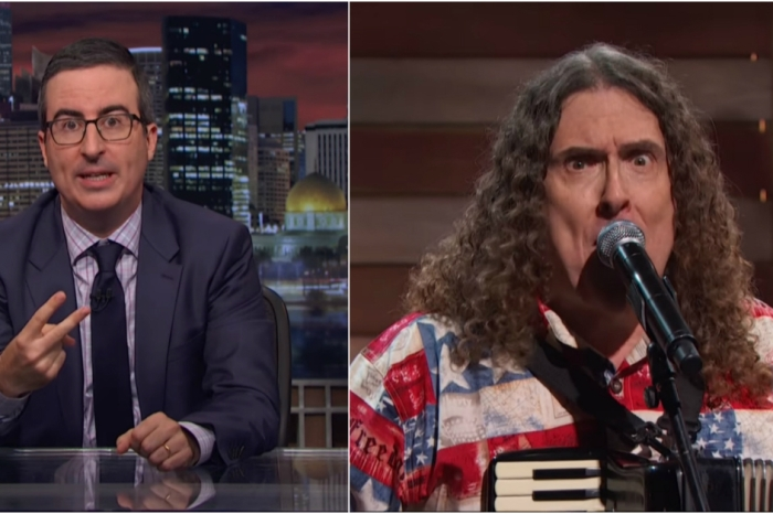 "Join Oliver and ""Weird Al"" Yankovic join forces to save humanity from nuclear annihilation"
