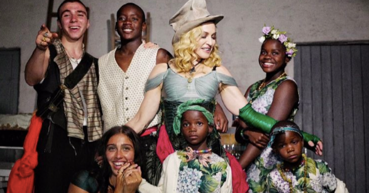 Madonna shares a family photo with all six of her beautiful children for the very first time