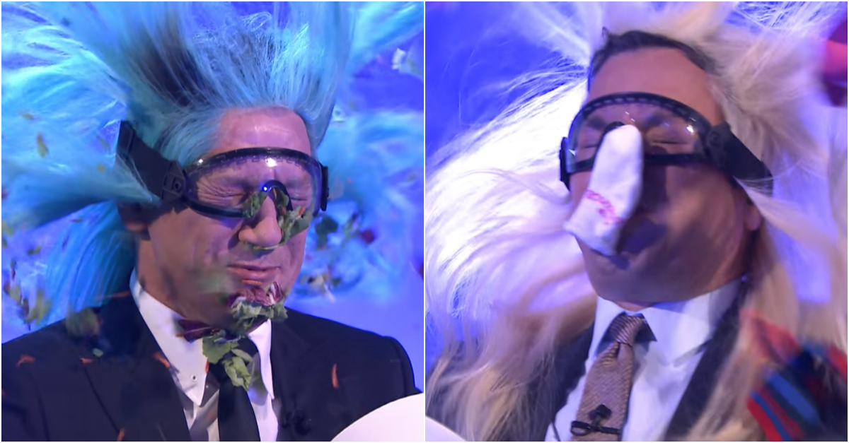 "Jeremy Renner joins Jimmy Fallon for a surprisingly educational edition of ""Blow Your Mind"""