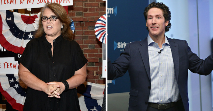 Rosie O'Donnell tells Joel Osteen to be more like Jesus after his megachurch fiasco