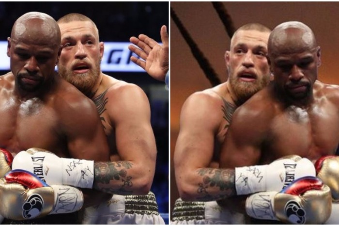 """McGregor and Mayweather shared an embrace that puts """"Titanic"""" to shame"""