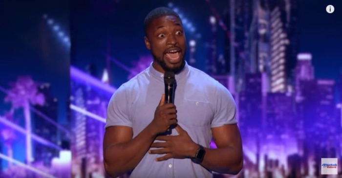 "This ""America's Got Talent"" comedian got a standing ovation after he talked about the time he got catfished"