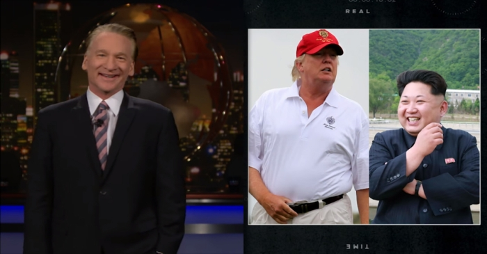 Bill Maher had a lot to say about the pissing contest between President Trump and Kim Jong-un — and none of it was pretty