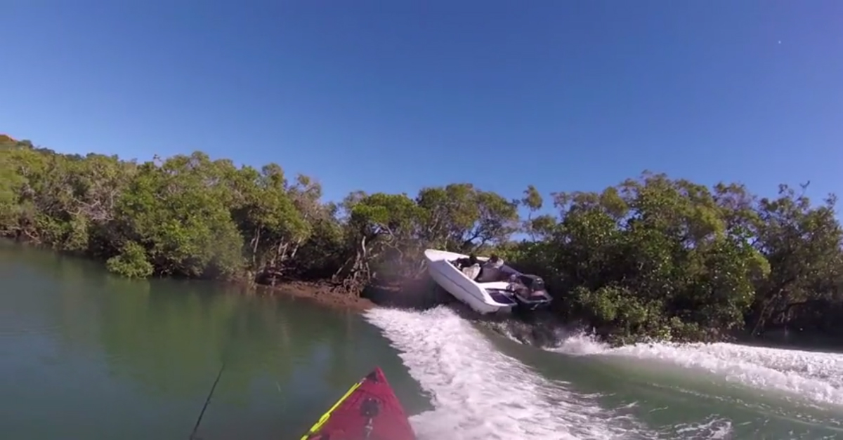Nothing's more dangerous than an Aussie swearing at a speedboat