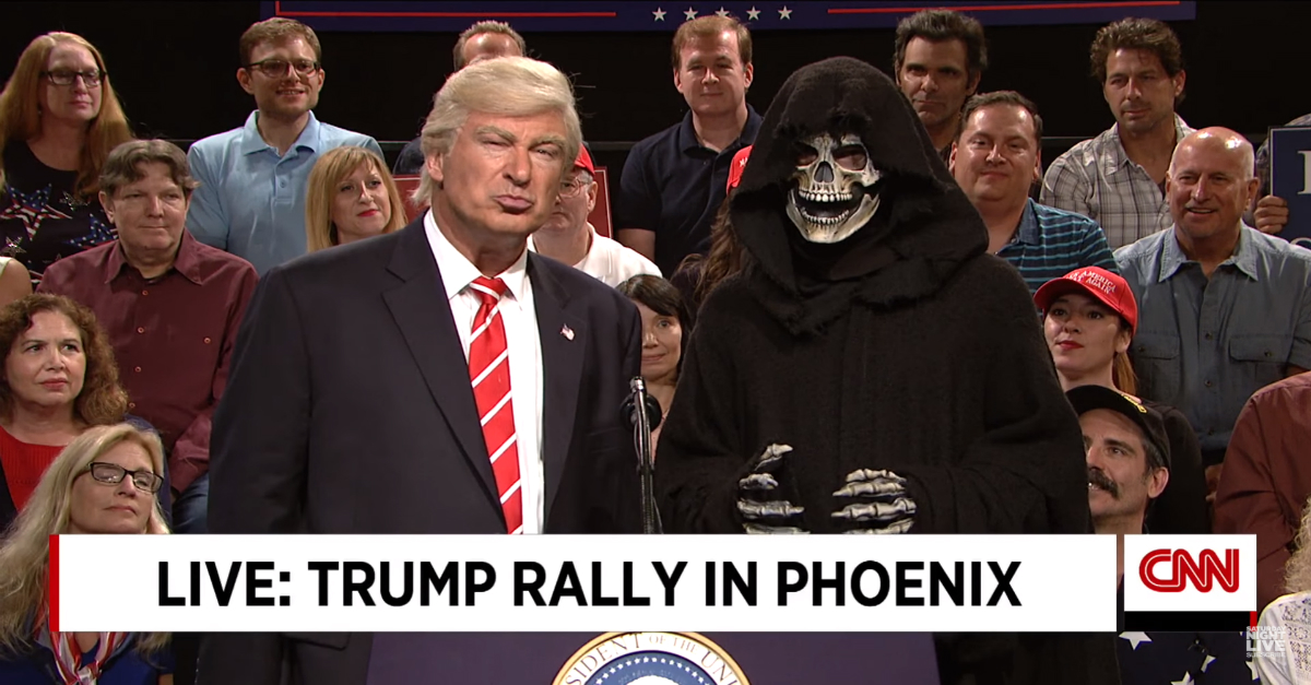 """Alec Baldwin revived his President Trump impression on """"Weekend Update: Summer Edition"""""""