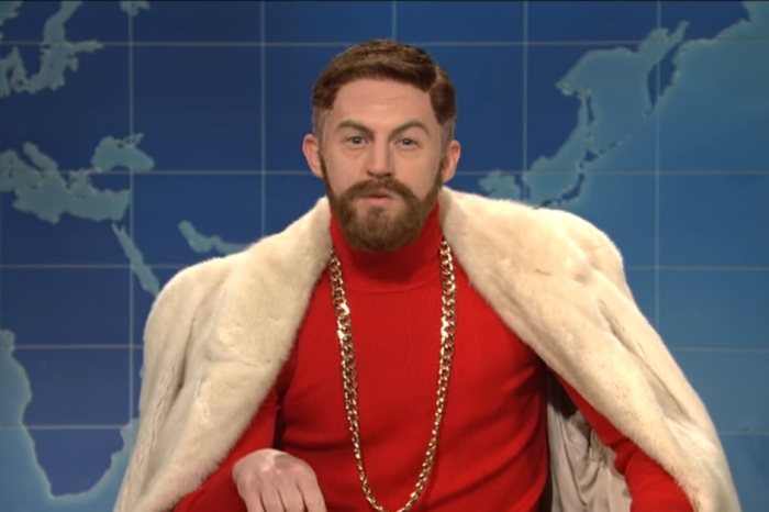 "A fake McGregor stopped by ""Weekend Update"" to talk about beating Floyd Mayweather"
