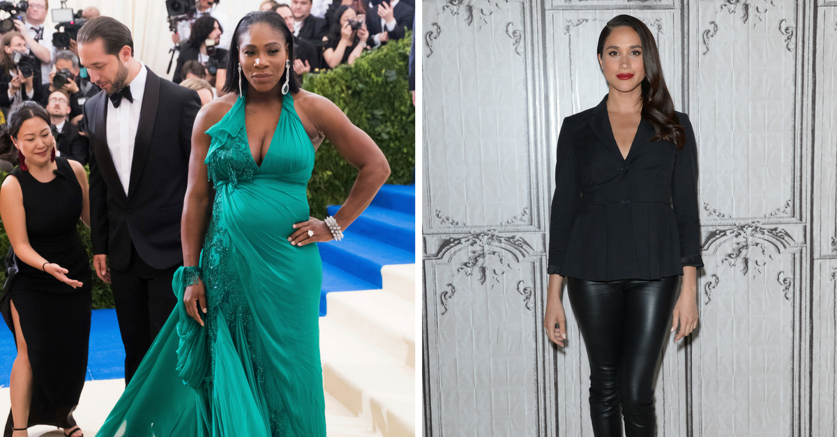 "Serena Williams is ""nervous"" about motherhood, but pal Meghan Markle thinks she'll be the ""best"" mom"