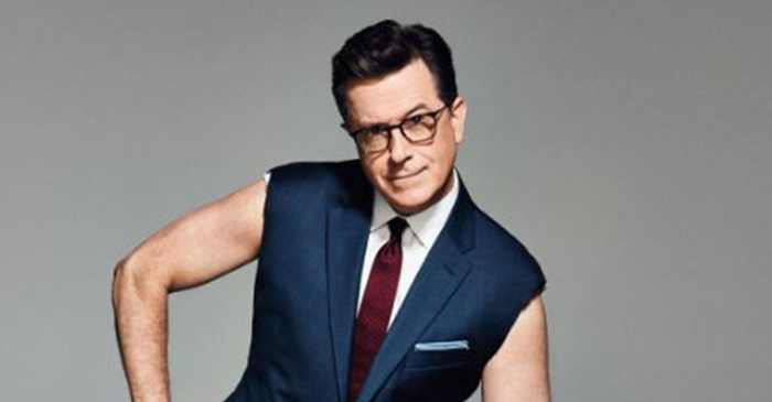 Sun's out, guns out in a new Stephen Colbert photo shoot with InStyle