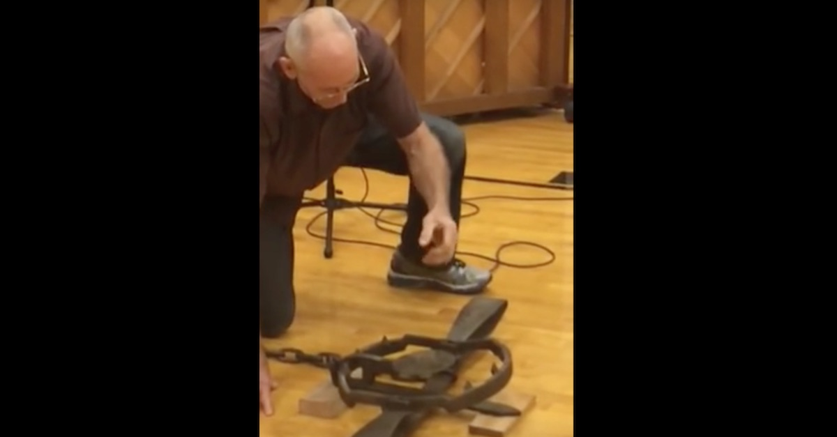 This Old Man Punched A Bear Trap To See If He Could Get Away With It