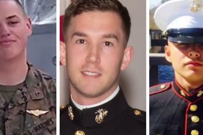 The U.S. Marine Corps identified the three men who were killed off the coast of Australia