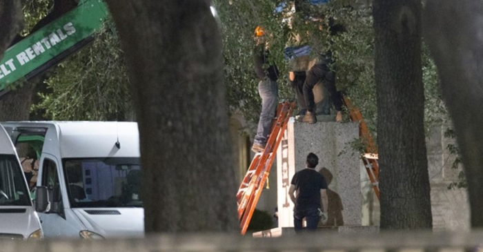 Students wake up to find Confederate statues taken down in Texas