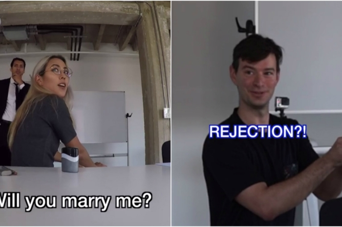 This proposal prank did not got according to plan, but it all worked out