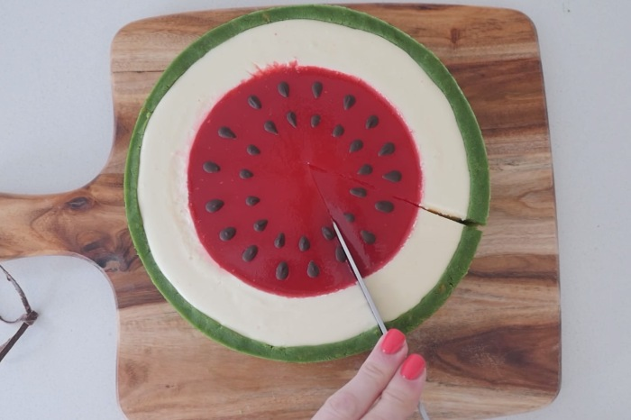 Celebrate National Watermelon Day with this adorable cheesecake