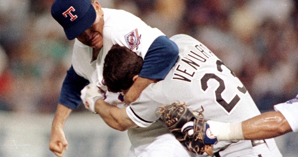 On the anniversary of the Nolan Ryan's mound beatdown of Robin Ventura, baseball fans take a look back