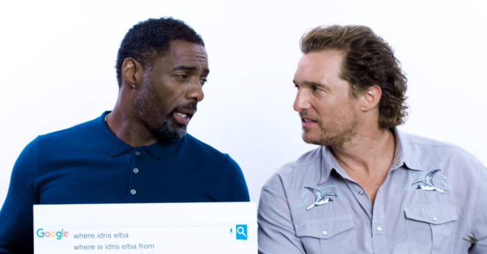 McConaughey & Elba is our new favorite bromance, and this video of them asking each other random questions is everything