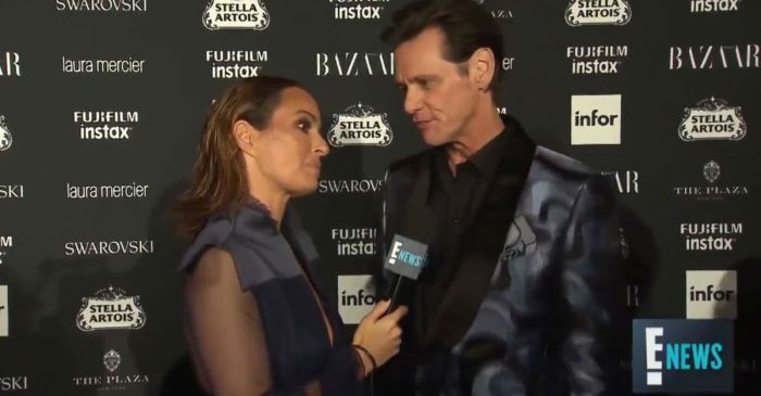 """There's no meaning to any of this"" says Jim Carrey in the most interesting NYFW interview"