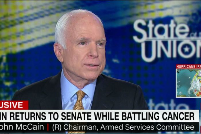 John McCain shares confidence and other feelings amid cancer fight