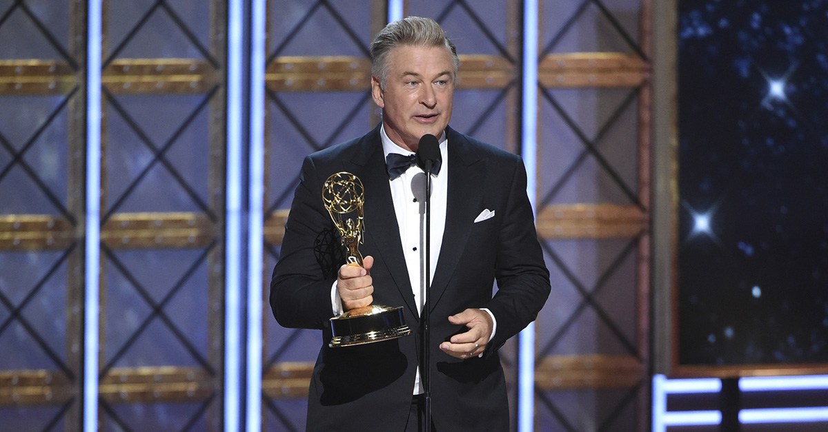 Alec Baldwin won an Emmy for playing Trump and jokingly offered it to the president