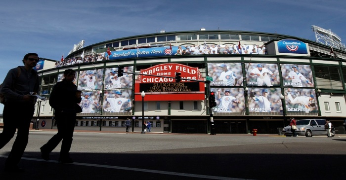 Whoa! Wrigley Field looks completely unrecognizable right now during the offseason