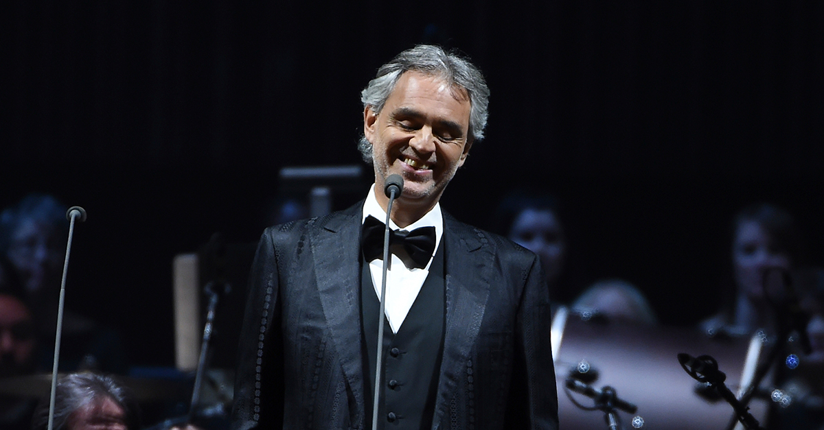 Andrea Bocelli had a scary fall off a horse in Italy