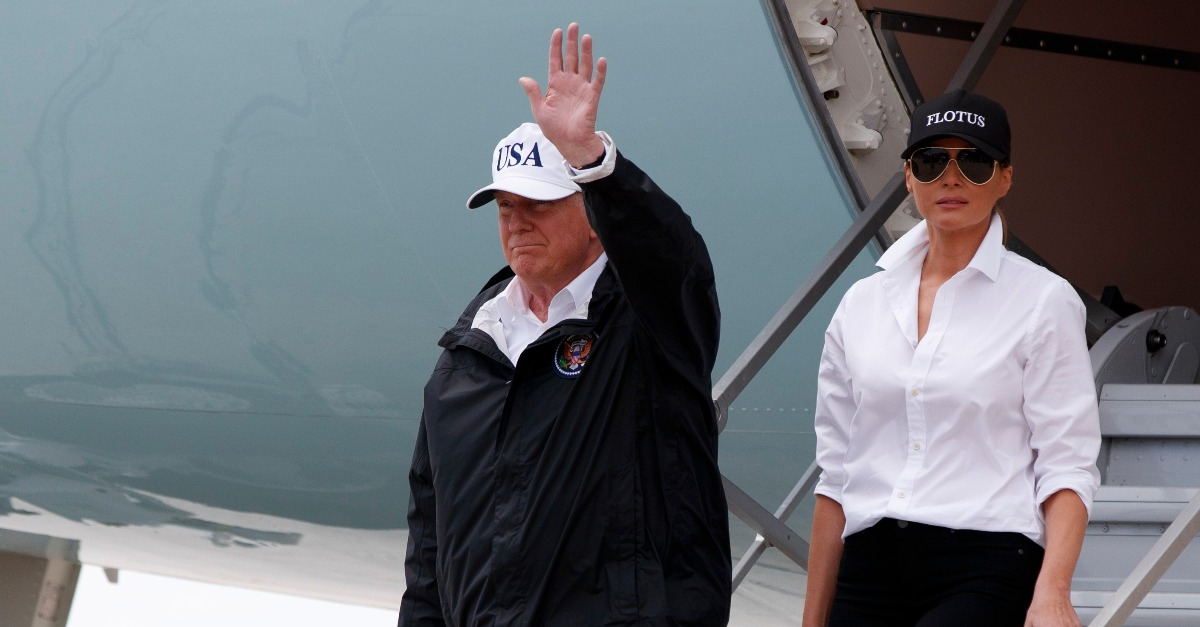 Kudos to Trump for donating $1 million to Harvey victims—but that doesn't make him a leader