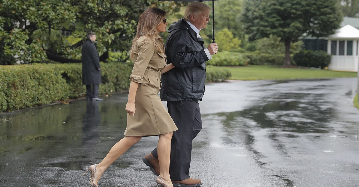 People are melting down all over again because Melania Trump wore heels