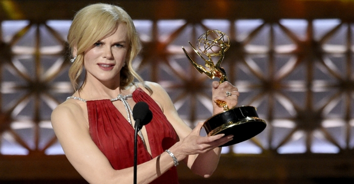 Why did Nicole Kidman only mention two of her four kids in her Emmys acceptance speech?