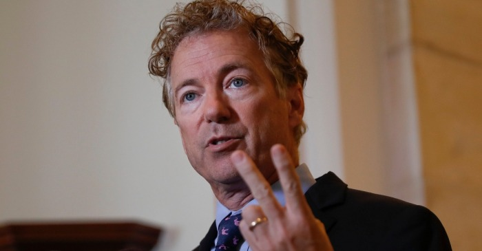 "Rand Paul says he's a ""no"" on the Senate budget unless it includes war spending cuts"