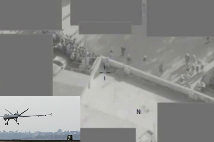Watch the moment a military drone blows a suspected ISIS target to smithereens