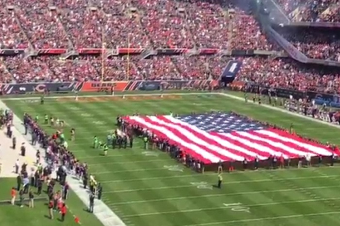The first National Anthem in Soldier Field this Sunday is giving us chills