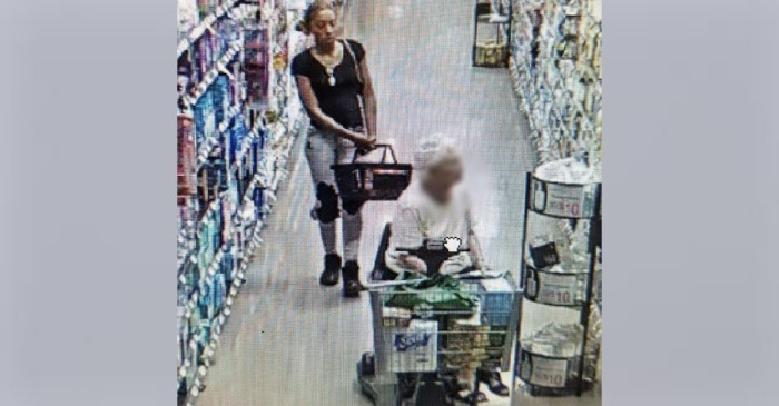 Police search for a suspect who stole a purse from a senior citizen's scooter at Walmart