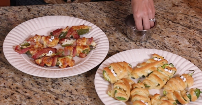 Feast your eyes upon these spooky mummy jalapeño poppers for Halloween