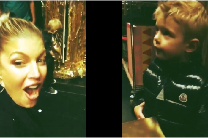 """Fergie shares video of her and 4-year-old son Axl Jack on a """"date night"""""""