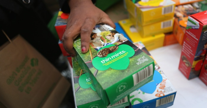This Chicago Girl Scout is attempting to sell an ungodly amount of cookies this year