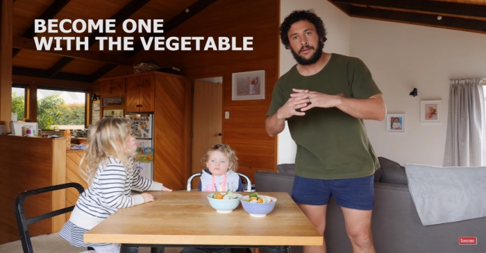 Dad Perfects Method in Getting Kids to Eat Their Vegetables