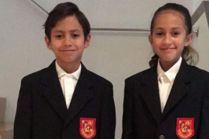 It was an emotional day for JLo as her twins started the first day of fourth grade